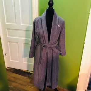 Victoria's secret grey long bath robe xs